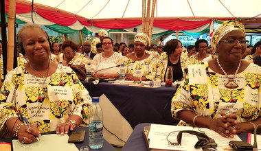 ASG Bintou Keita, front row, left, at the opening of the 2019 International Women Leaders' Conference, Bujumbura, 24 Oct 2019. UN/Napoleon Viban
