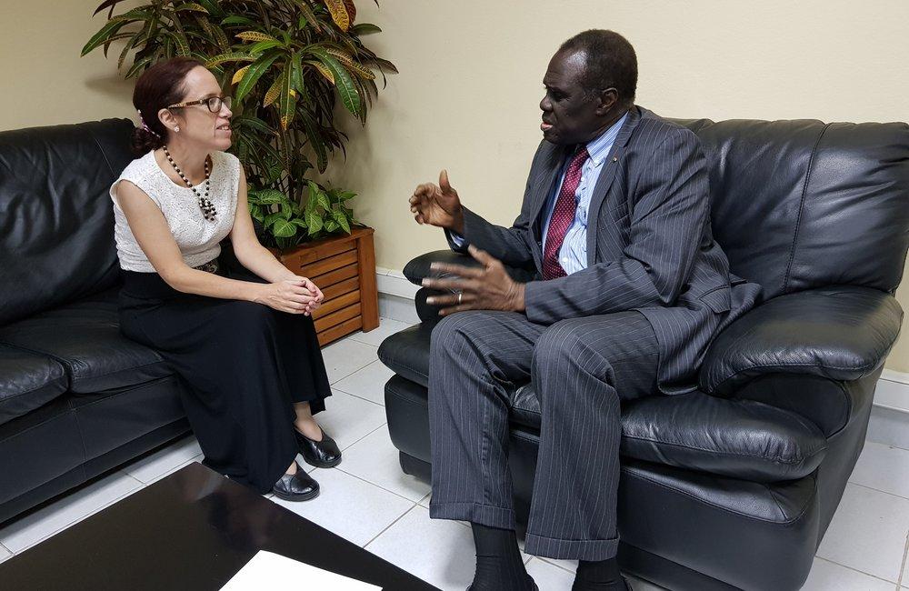 L'envoyé spécial Michel Kafando a rencontré l'ambassadeur américain au Burundi, le 6 septembre 2018. Photo: OSESG-B, N. Viban