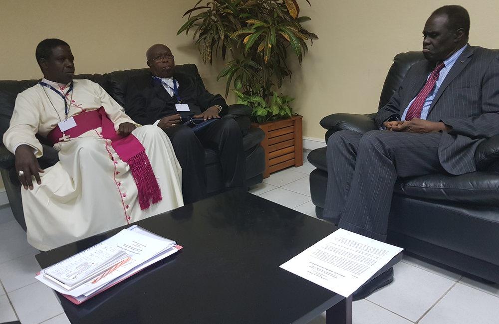 L'envoyé spécial Michel Kafando a rencontré des représentants religieux à Bujumbura le 6 septembre 2018. Photo: OSESG-B, N. Viban
