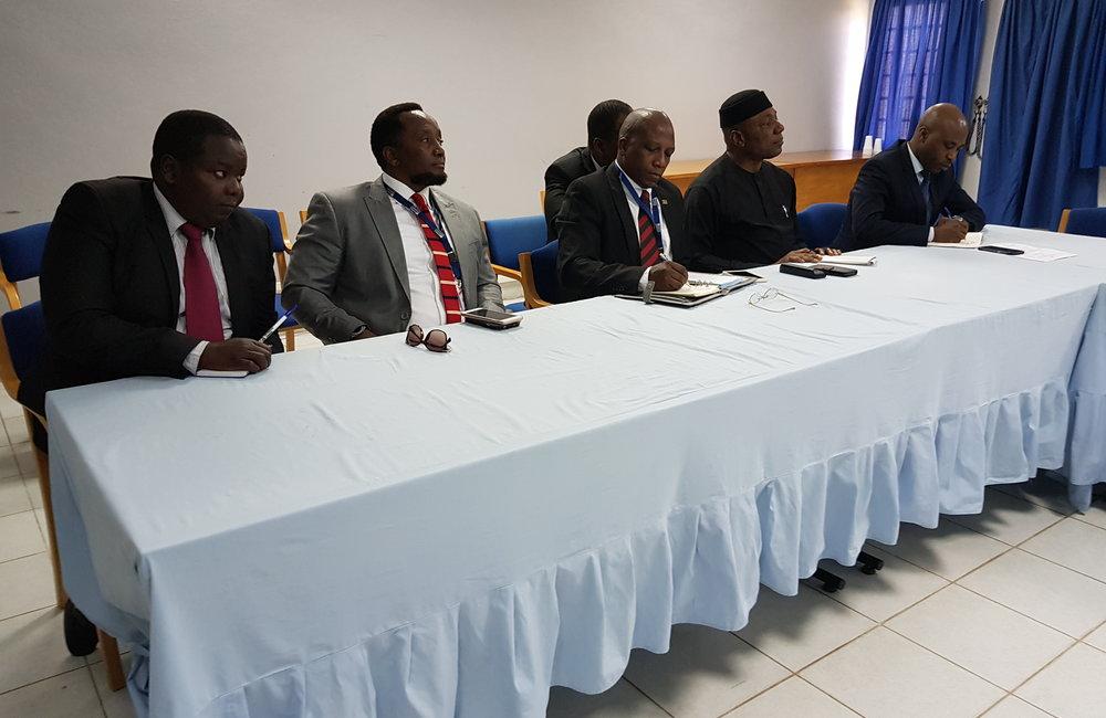 L'envoyé spécial Michel Kafando consulte le Groupe des ambassadeurs africains à Bujumbura, le 7 septembre 2018. Photo: OSESG-B, N. Viban