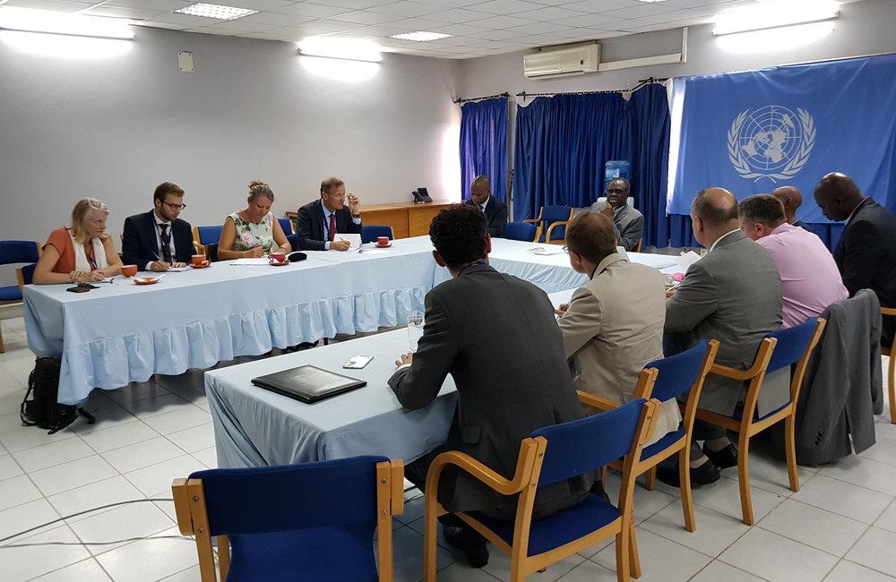 L'envoyé spécial Michel Kafando s'est entretenu avec les ambassadeurs européens à Bujumbura, le 11 septembre 2018. Photo: OSESG-B, N. Viban