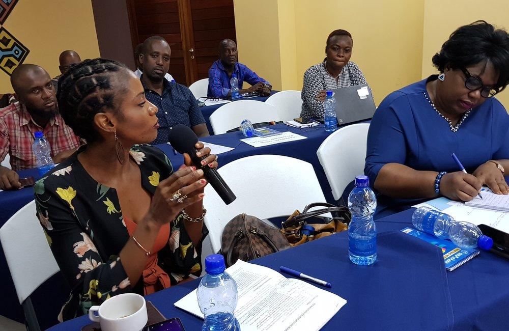 Briefing lors de la retraite OSESG-B par la responsable administrative Christine Nyanway-Gimeh, 23 janvier 2020. ONU/Napoleon Viban
