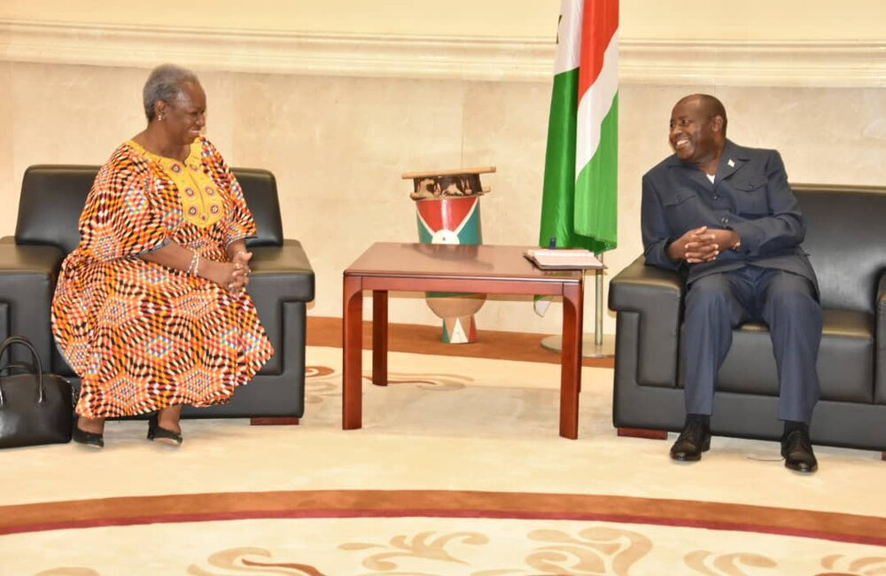 ASG Bintou Keita meeting with President Evariste Ndayishimiye, 14 Sept 2020