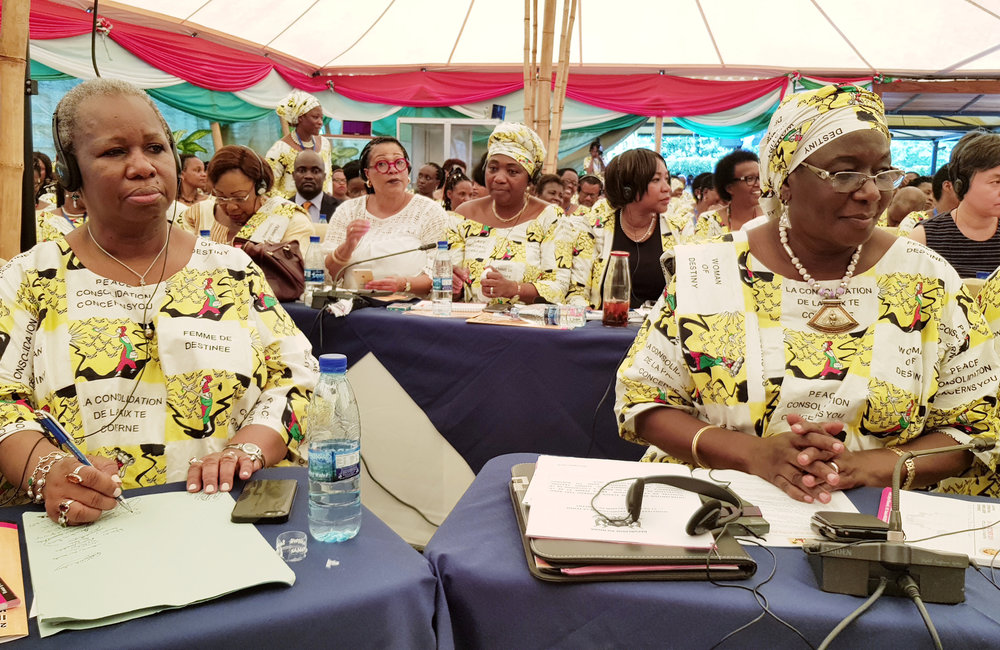 ASG Bintou Keita and team attend the 2nd International Women Leaders Conference in Bujumbura, 24 Oct 2019. UN/Napoleon Viban