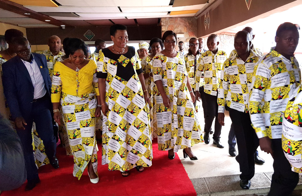 Burundi First Lady Denise Bucumi Nkurunziza arrives at Club du Lac Tanganyika venue of the 2nd International Women Leaders Conference, Bujumbura, 24 Oct 2019. UN/Napoleon Viban