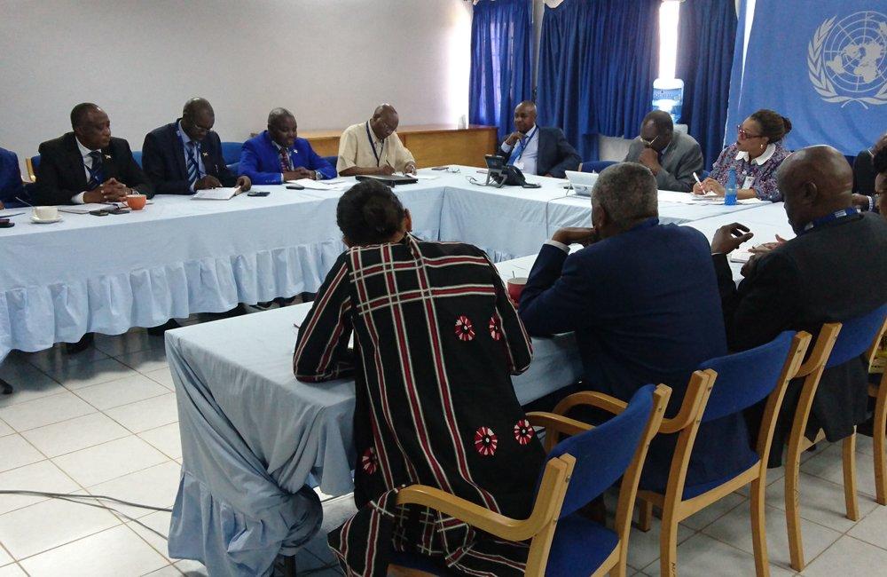 L'envoyé spécial, Michel Kafando, a rencontré des représentants de l'alliance gouvernementale FPP à Bujumbura, le 5 septembre 2018. Photo: OSESG-B, N. Viban