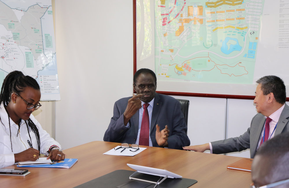 OSESG-B Special Envoy Michel Kafando in working session with his counterpart of OSESG-GL, Huang Xia in Nairobi, 26 Aug 2019. Photo: UN/E. Mesfin