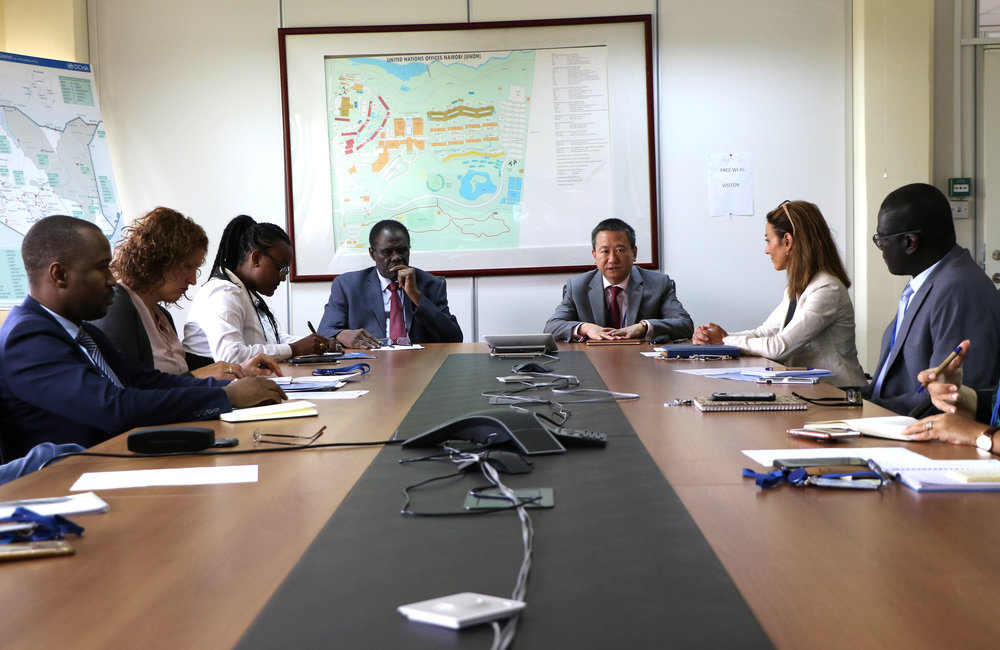 Partial view of OSESG-B and OSESG-GL Special Envoys and their aides at their Nairobi working session, 26 Aug 2019. Photo: UN/E. Mesfin