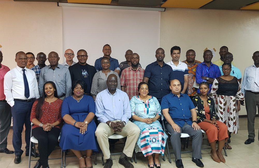 Group photo of staff at OSESG-B retreat, 23 Jan 2020. UN/Napoleon Viban