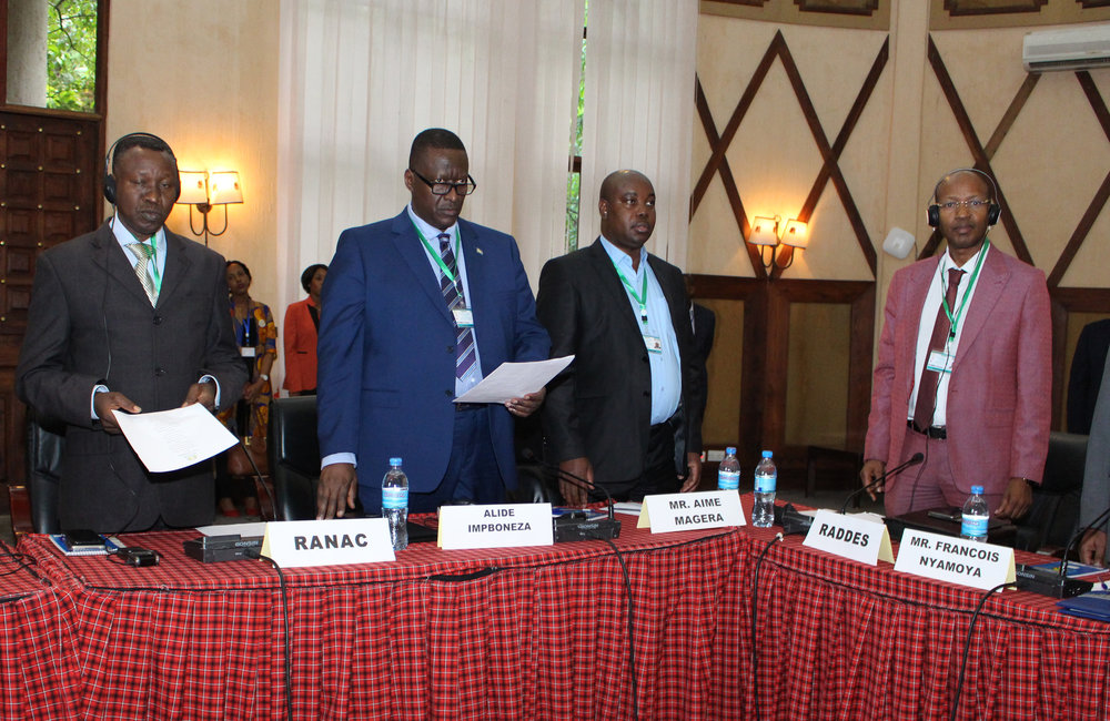 Former presidents of Burundi attend the peace talks, which were at their 5th round in Arusha, Tanzania, 26 Oct 2018. UN Photo/Kassimi Bamba
