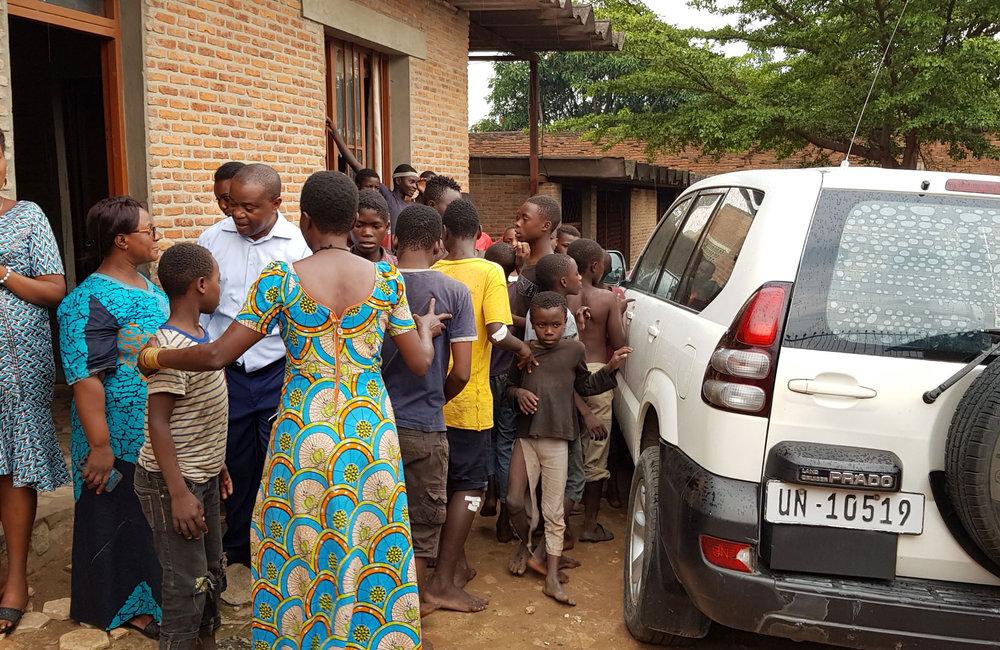 OSESG-G visit a centre for street children in Bujumbura, 10 December 2018. UN Photo/Napoleon Viban