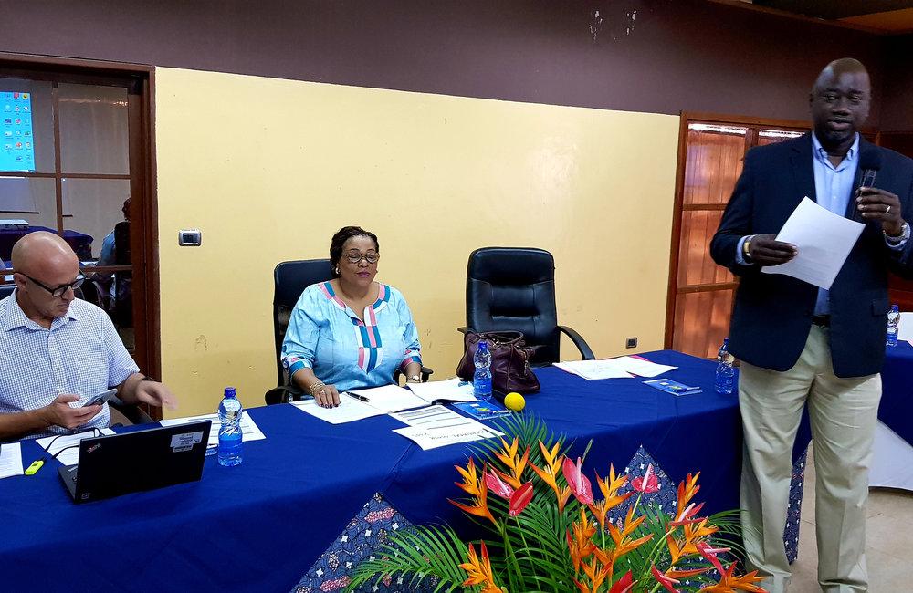 Briefing lors de la retraite OSESG-B par Mame Dieng, responsable principal de la réforme du secteur sécurité, 23 janvier 2020. ONU/Napoleon Viban