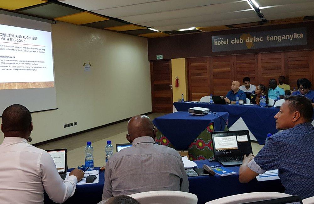 Les ODD étaient au cœur des discussions sur le plan de travail OSESG-B, 23 janvier 2020. ONU/Napoleon Viban