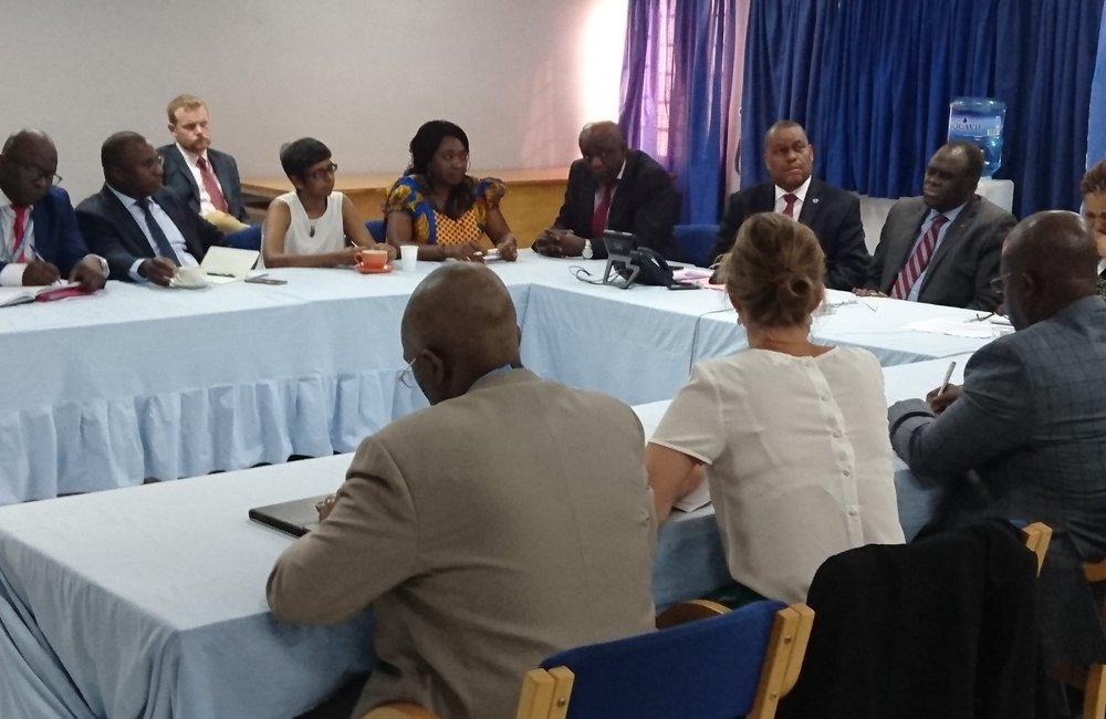 L'envoyé spécial Michel Kafando a rencontré les chefs des agences des Nations Unies au Burundi, le 4 septembre 2018. Photo: OSESG-B, N. Viban