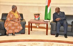 ASG Bintou Keita meeting with President Evariste Ndayishimiye, 14 Sept 2020