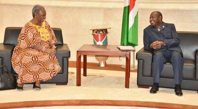 ASG Bintou Keita meets with Burundi President Evariste Ndayishimiye, 14 Sept 2020